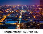 view of harbor east and canton... | Shutterstock . vector #523785487