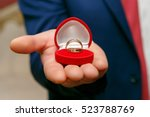 Wedding Rings In Red Box In Th...