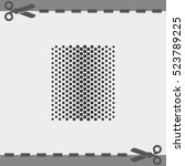 halftone dots. flat dots... | Shutterstock .eps vector #523789225