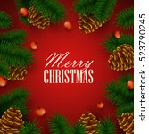 christmas background. vector... | Shutterstock .eps vector #523790245