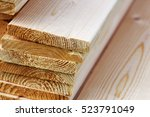 Pile Of New Wooden Boards On A...