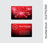 business card red light theme...