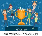award winners. student win an... | Shutterstock .eps vector #523797214