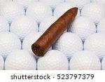 detail of luxury cuban cigars... | Shutterstock . vector #523797379
