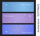 vector background of glowing... | Shutterstock .eps vector #523798651
