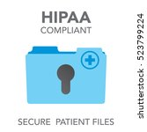 hipaa compliance icon graphic... | Shutterstock .eps vector #523799224