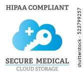 hipaa compliance icon graphic...   Shutterstock .eps vector #523799257