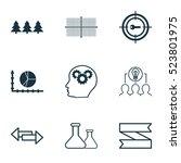 set of 9 universal editable... | Shutterstock .eps vector #523801975