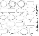 comic bubbles | Shutterstock .eps vector #52380709