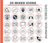 set of 25 universal editable...   Shutterstock .eps vector #523812241