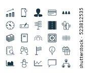 set of 25 universal editable...   Shutterstock .eps vector #523812535