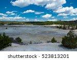 norris geyser basin ... | Shutterstock . vector #523813201
