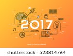 infographic concept  2017  ... | Shutterstock .eps vector #523814764