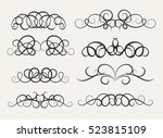 vintage decor elements and... | Shutterstock .eps vector #523815109
