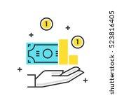 color box icon  revenue concept ... | Shutterstock .eps vector #523816405