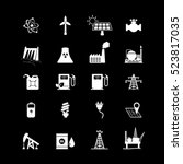 energy resources icon set. | Shutterstock .eps vector #523817035