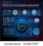 abstract hud interface element. ...   Shutterstock .eps vector #523817437