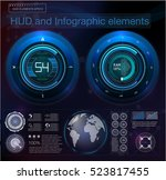 abstract future hud futuristic... | Shutterstock .eps vector #523817455