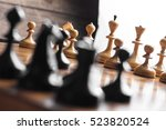 Chess Set On The Chess Board....
