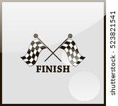 racing flag icon. | Shutterstock .eps vector #523821541