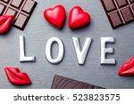 Love Word  Heart And Lips...