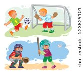 set of vector icons of boys... | Shutterstock .eps vector #523829101