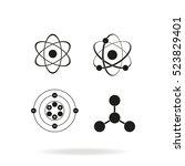 atom icon set. | Shutterstock .eps vector #523829401