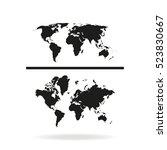 world maps icon. | Shutterstock .eps vector #523830667
