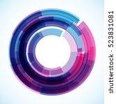 geometric frame  vector... | Shutterstock .eps vector #523831081