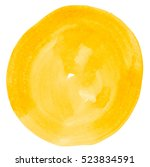 watercolor circle isolated on... | Shutterstock . vector #523834591