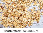 dried in the oven pumpkin seeds ... | Shutterstock . vector #523838071
