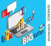 illustration of info graphic... | Shutterstock .eps vector #523839655
