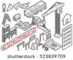 illustration of info graphic... | Shutterstock .eps vector #523839709
