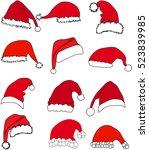 santa claus hat . | Shutterstock .eps vector #523839985
