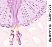 beautiful ballerina in... | Shutterstock .eps vector #523841101