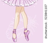 beautiful ballerina in... | Shutterstock .eps vector #523841107