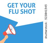 get your flu shot announcement. ... | Shutterstock .eps vector #523841545