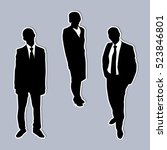 business people silhouettes | Shutterstock .eps vector #523846801