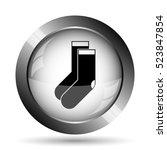 socks icon. socks website... | Shutterstock . vector #523847854