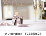 image of luxury new year gift....   Shutterstock . vector #523850629