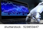 exchange trade robot. automated ... | Shutterstock . vector #523853647