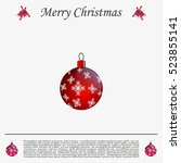 red christmas ball with... | Shutterstock .eps vector #523855141