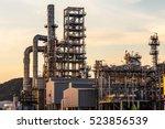 petrochemical plant  oil... | Shutterstock . vector #523856539