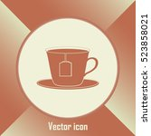 cup with tea bag icon | Shutterstock .eps vector #523858021