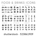 food and drink black vector... | Shutterstock .eps vector #523861909