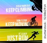 vector sports web banner.... | Shutterstock .eps vector #523862914