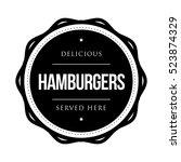 hamburger vintage stamp logo | Shutterstock .eps vector #523874329