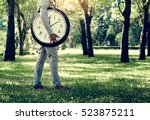 alarm timing clock schedule... | Shutterstock . vector #523875211