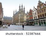 Town Hall, grand place, Leuven, Flemish Brabant, Flanders, Belgium