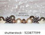 christmas card  illustration... | Shutterstock . vector #523877599